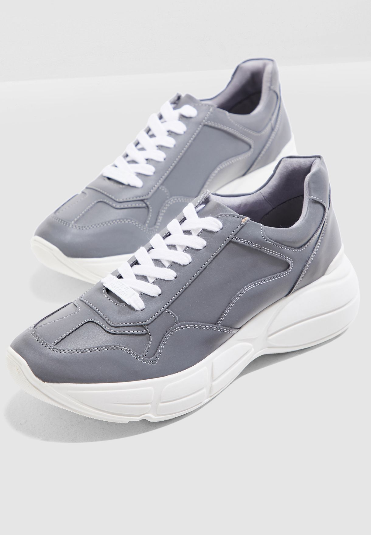 8da0bb98804 Shop Steve Madden grey Memory Chunky Sneaker MEMORY for Women in UAE ...