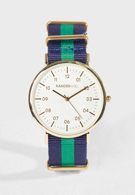Casual Webbing  Strap Watch