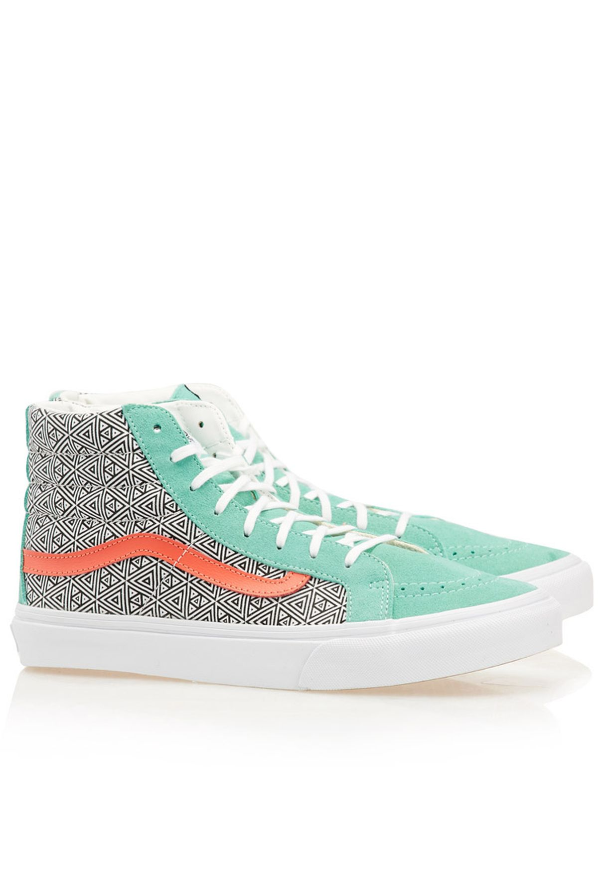 e6c21b883e Shop Vans multicolor Geometric SK8 HI Slim Sneakers for Women in UAE ...