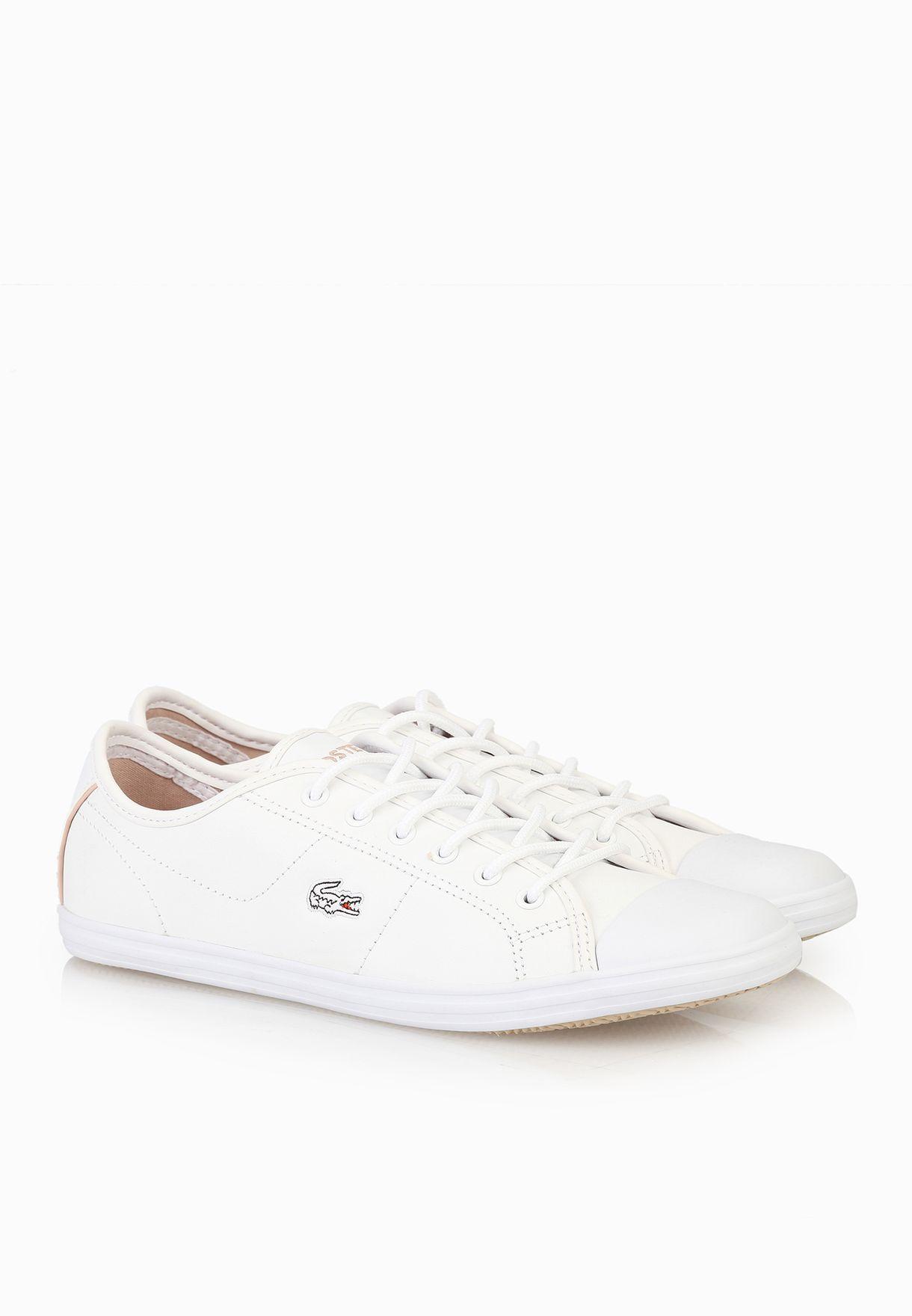 03fbf06e7d19 Shop Lacoste white Ziane EDG Sneakers 30SPW0027-21G for Women in Kuwait -  LA014SH19NKY
