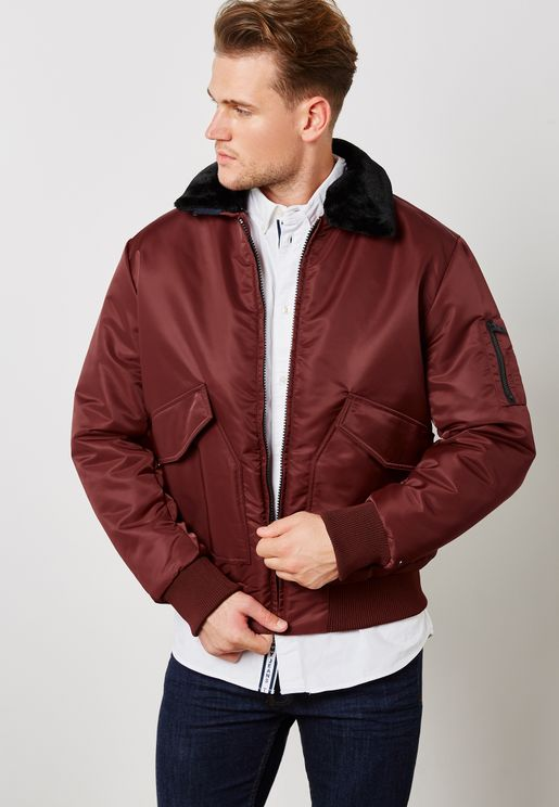 Detachacle Collar Bomber Jacket
