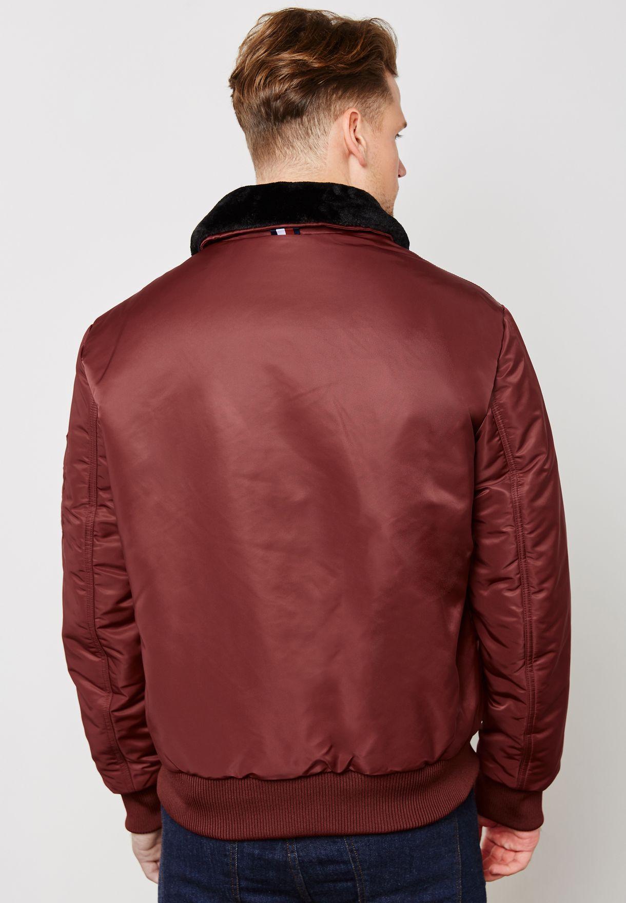 Detachacle Collar Bomber Jacket