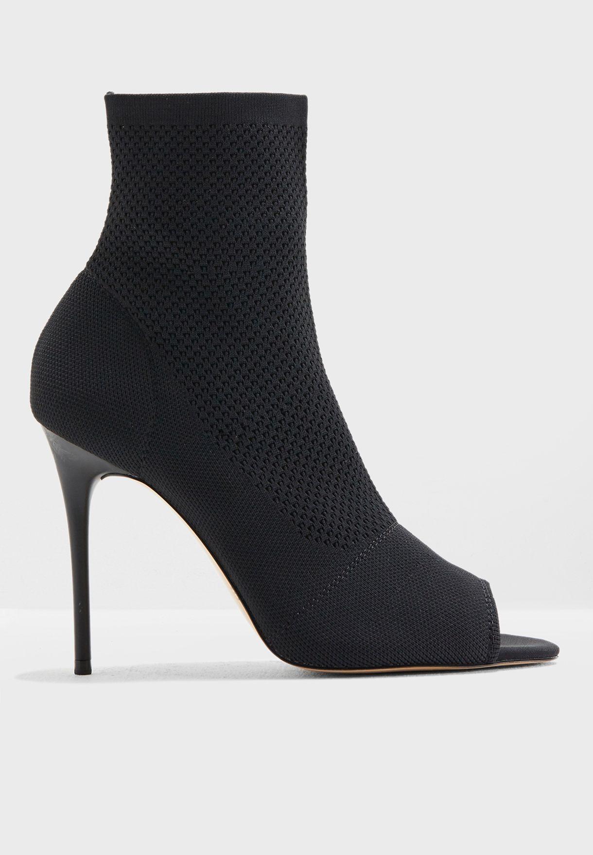 734b708a4325 Shop Mango black Tamu Peep Toe Ankle Bootie 33033758 for Women in ...