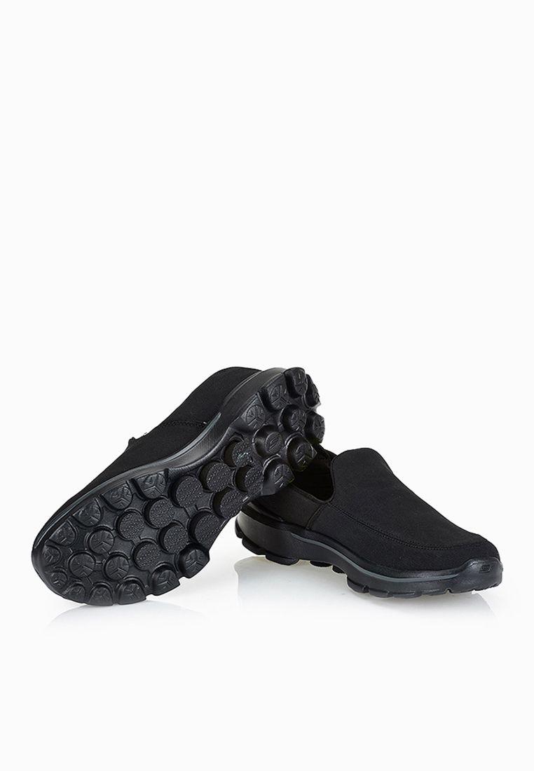 Shop Skechers Black Go Walk 3 Attain Slip Ons 53982 Bbk