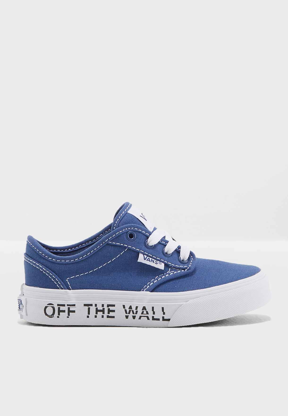 a468d8aebe8d55 Shop Vans blue Atwood Sneakers Youth 3Z9Q1S for Kids in UAE ...