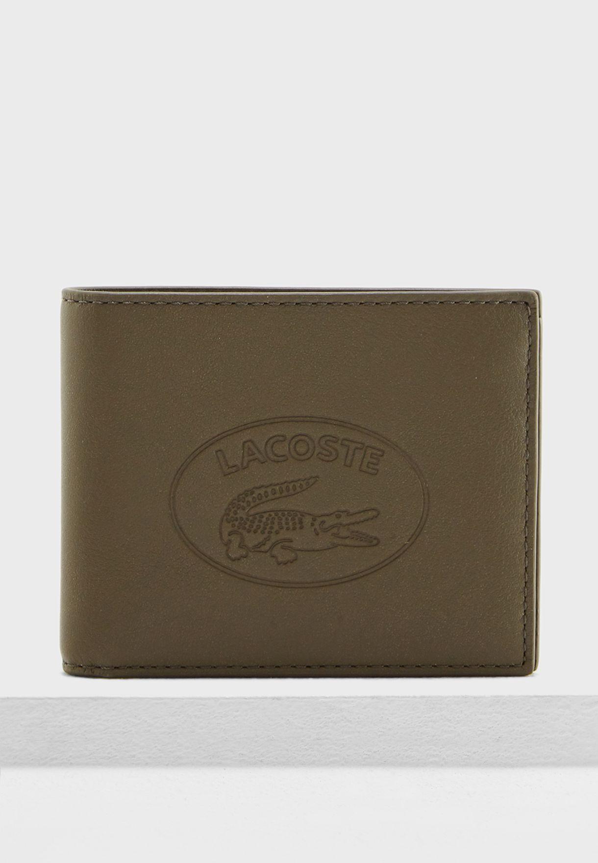 c3219382d02 Shop Lacoste green Billfold Wallet NH2660IC B45 for Men in UAE ...