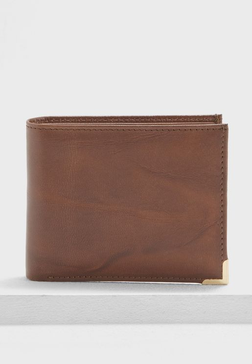 Formal Leather Bi-Fold Wallet