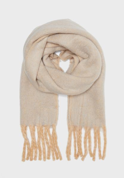 Brushed Two-Tone Scarf