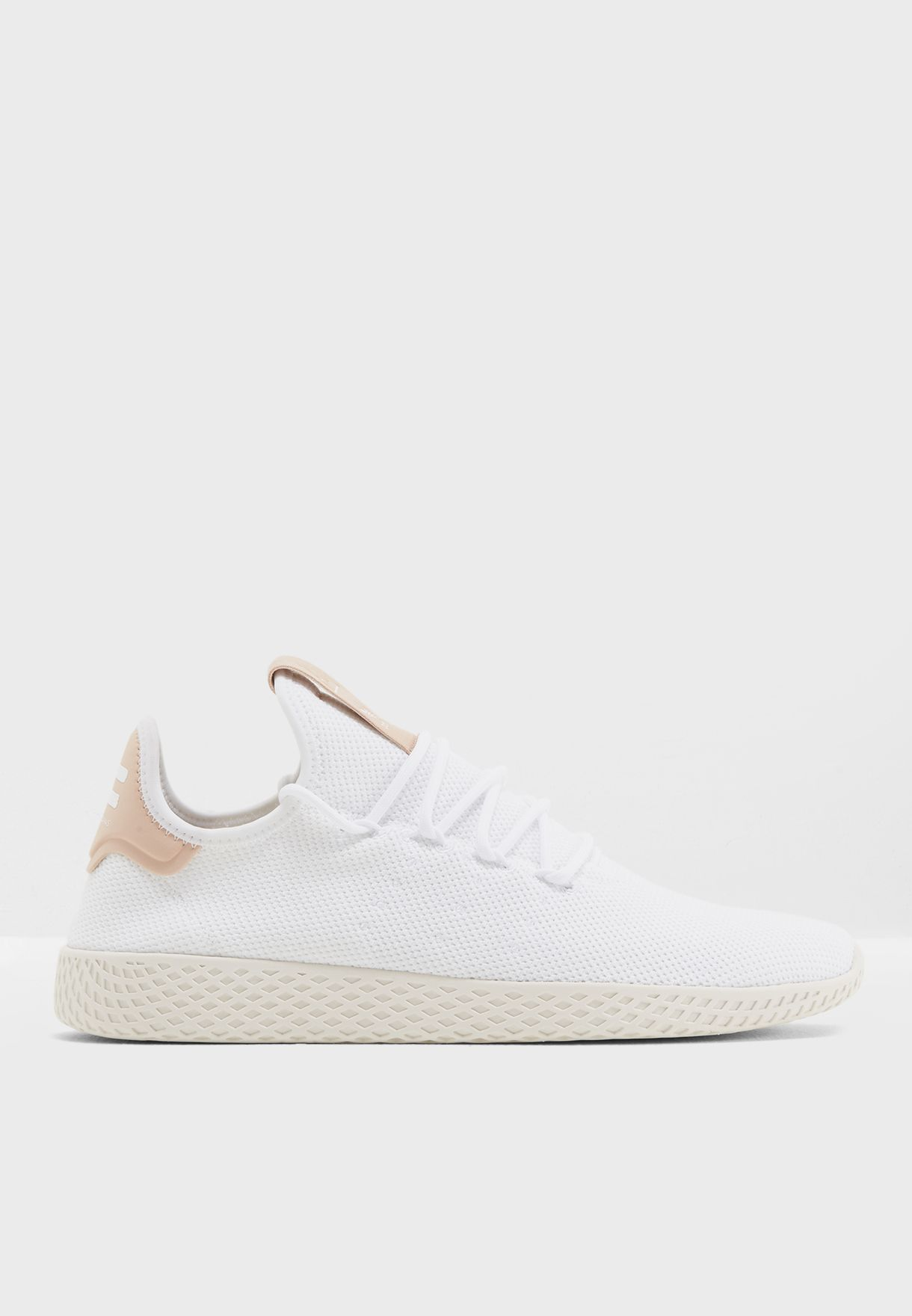 62a77148a Shop adidas Originals white Pharrell Williams Hu Tennis CQ2169 for ...