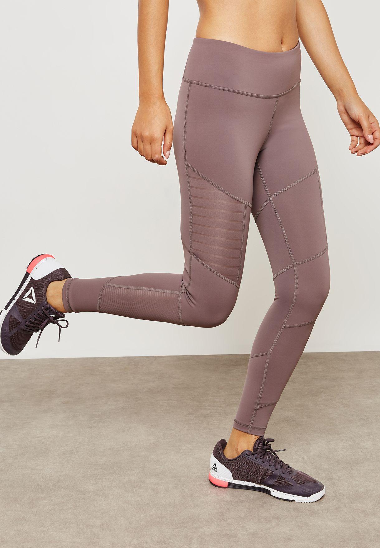 Buy Reebok Purple Mesh Leggings For Women In Mena Worldwide Cz9486