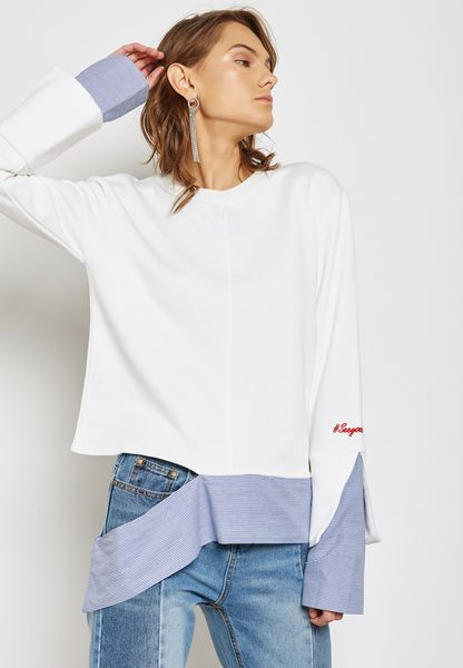 Cut Out Contrast Top