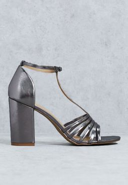 T-Bar Block Heel Sandal