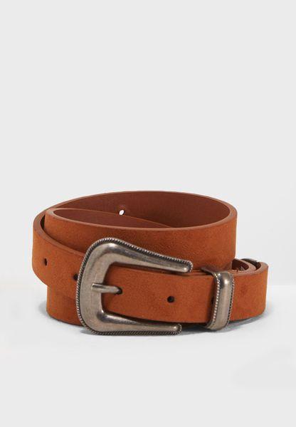Sleek Western Buckle Belt