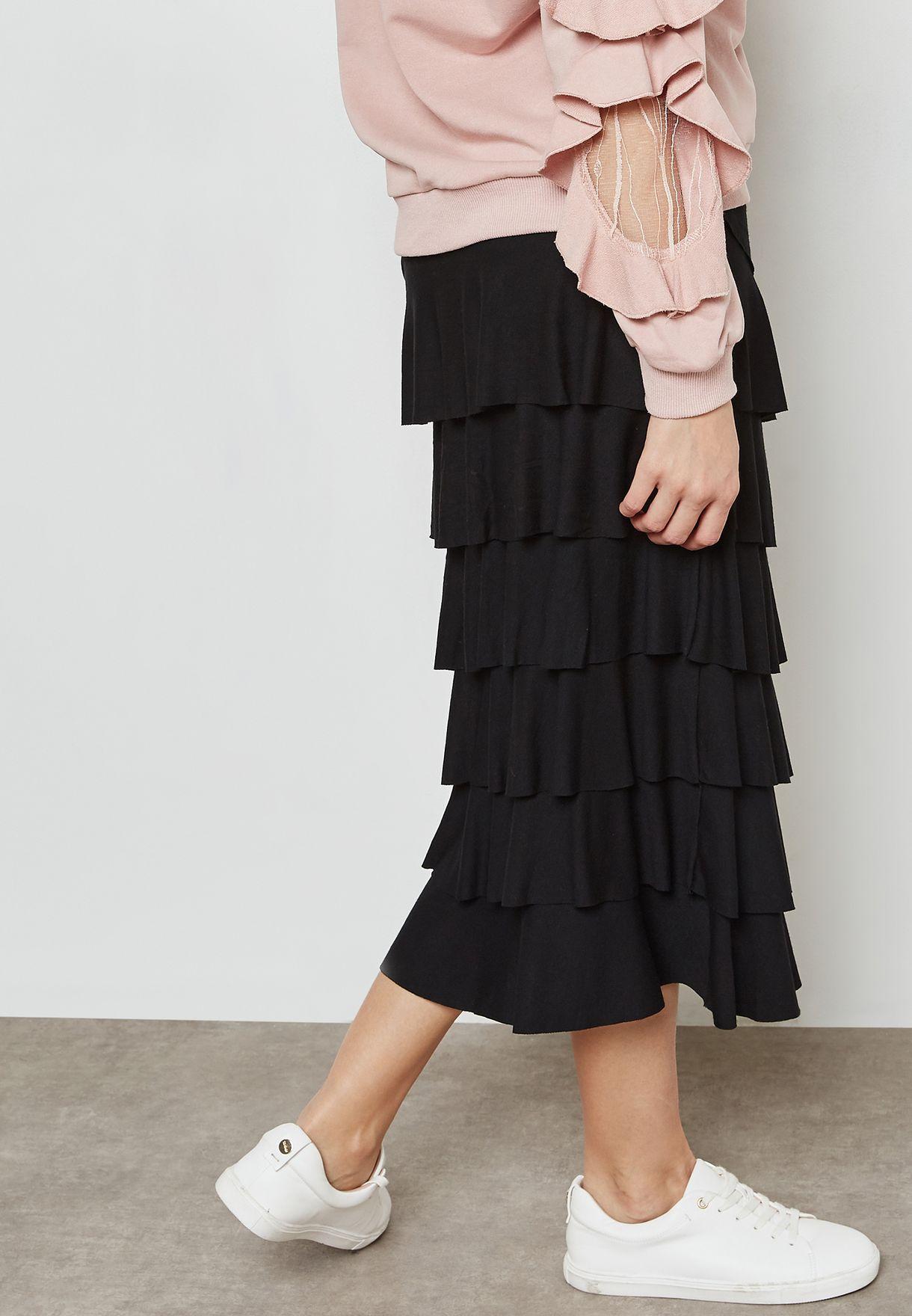 Tiered Ruffle Skirt