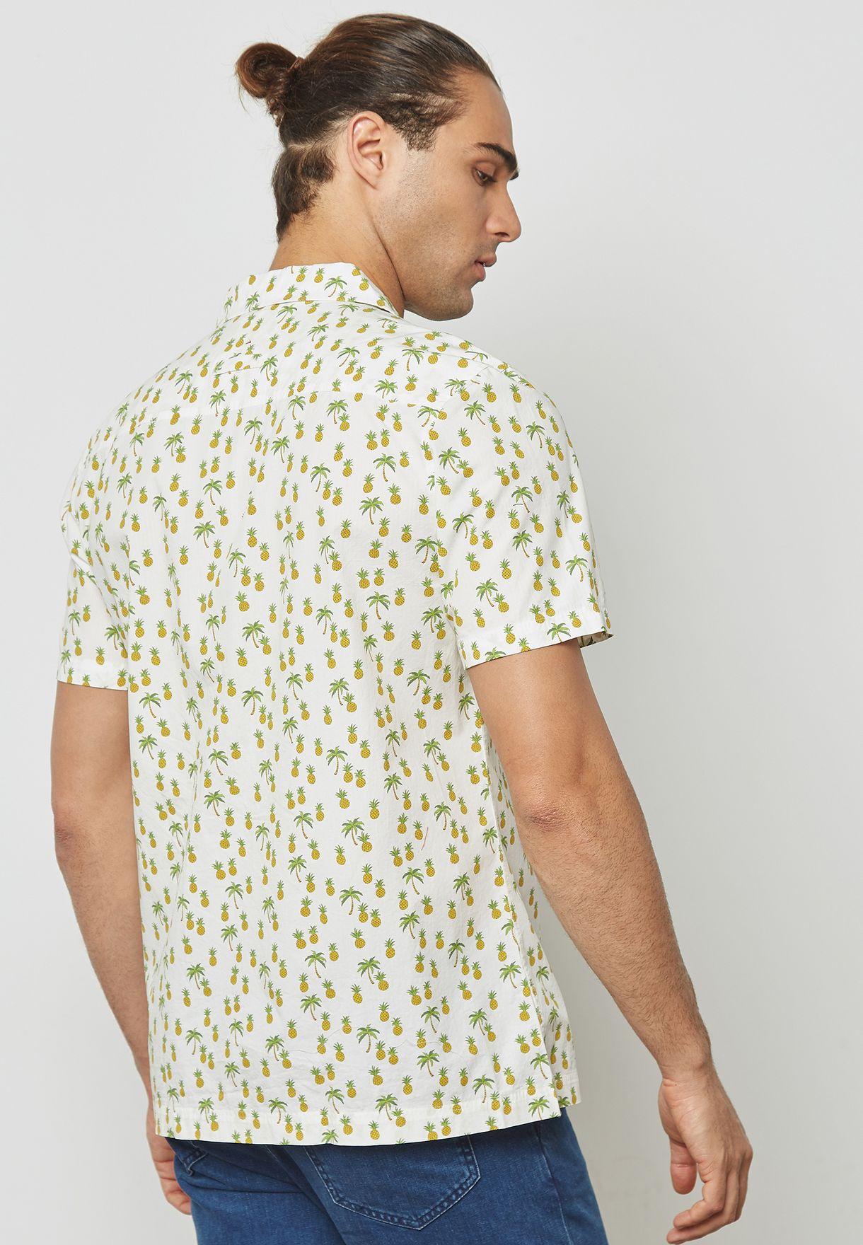 Seersucker Printed Shirt