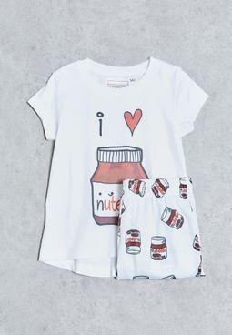 Kids Chocolate Pyjama Set