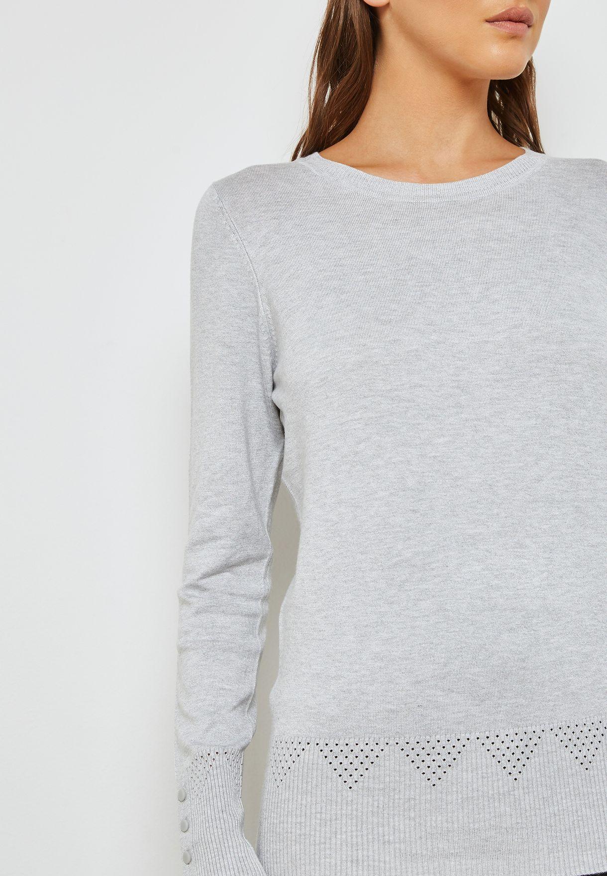 Eyelet Detail Sweater