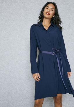 Shirt Buckle Side Dress