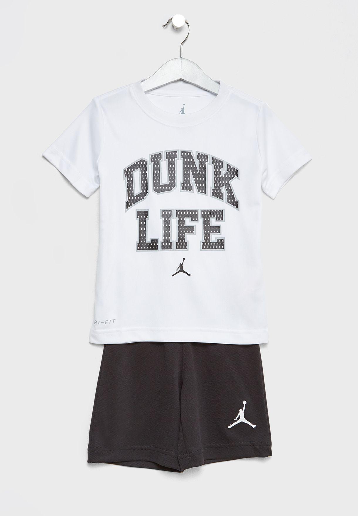 ab888dca08ed93 Shop Nike multicolor Kids Dunk Life T-Shirt+Shorts Set 854790-023 ...