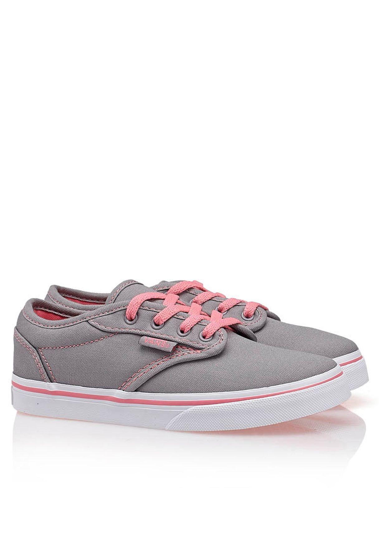 f7aa224d9126 Shop Vans grey Atwood Low Sneakers for Kids in Saudi - VA088SH09TJI