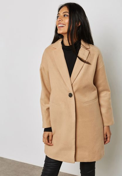 Longline Buttoned Coat