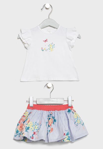 Infant Top + Skirt Set