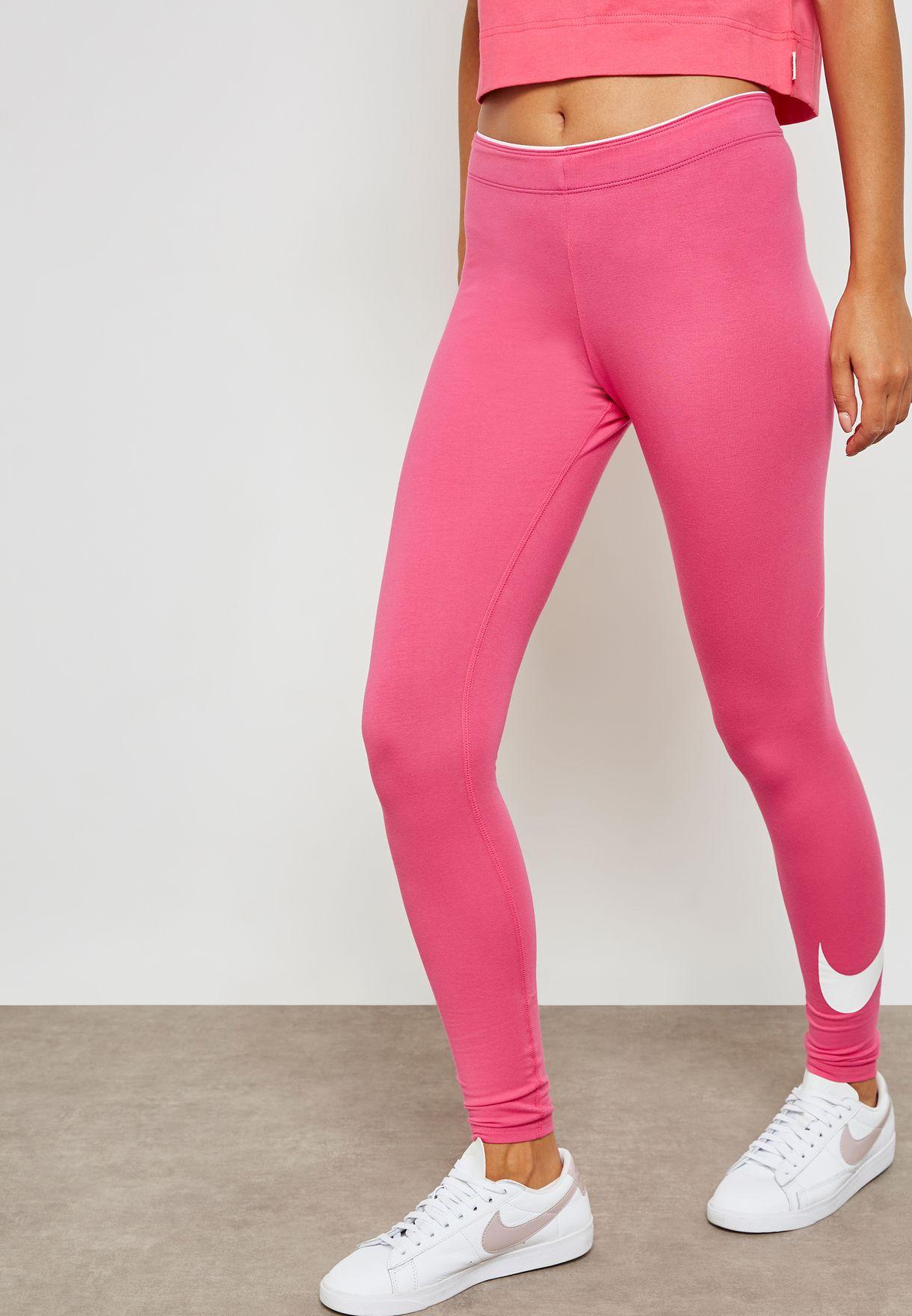 ea32e251a Shop Nike pink Club Logo Leggings 815997-674 for Women in UAE ...