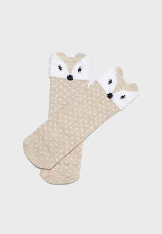 Infant Fox Socks