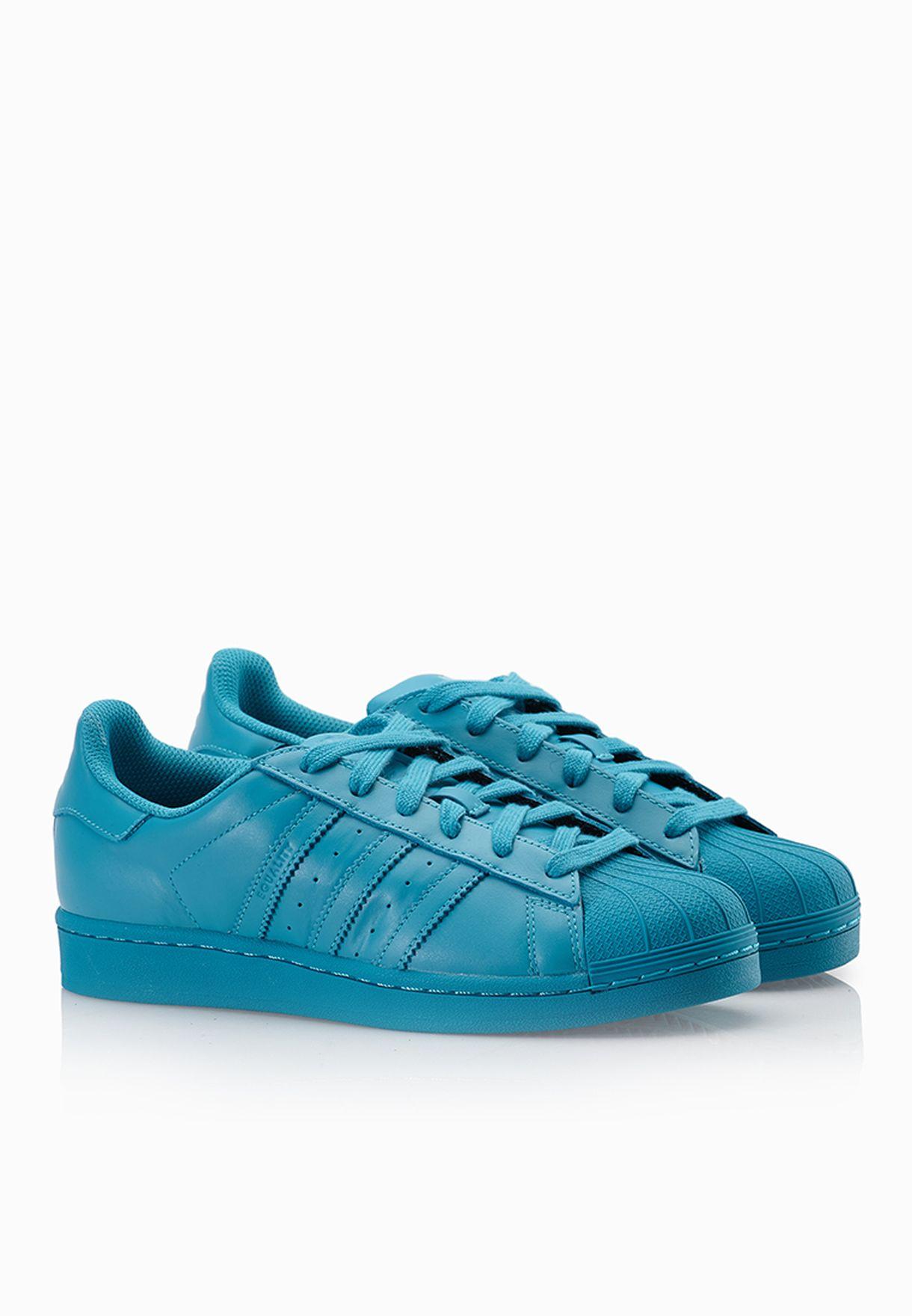 3de521616 Shop adidas Originals blue Pharrell Williams Superstar Sneakers ...