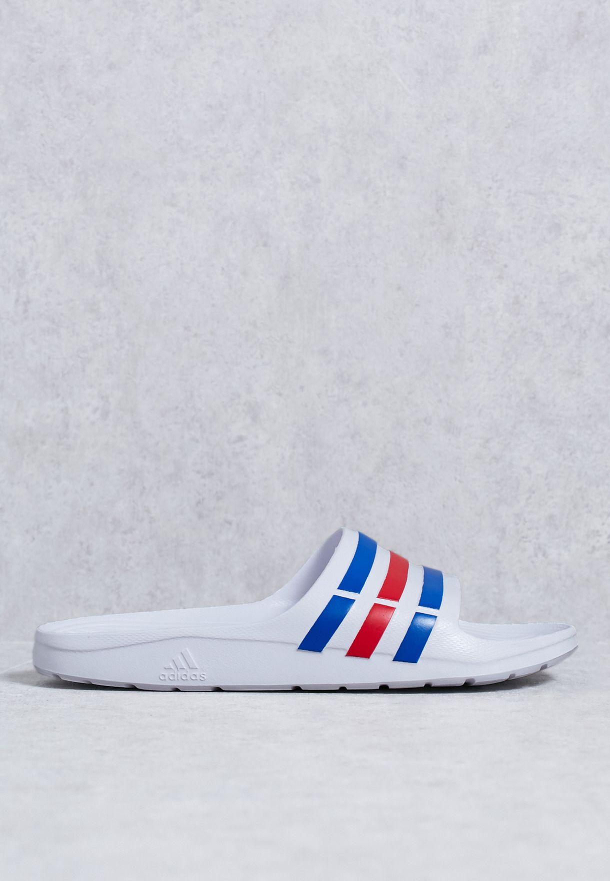 21c81e4a6 Shop adidas white Duramo Slide U43664 for Men in UAE - AD476SH09VOS