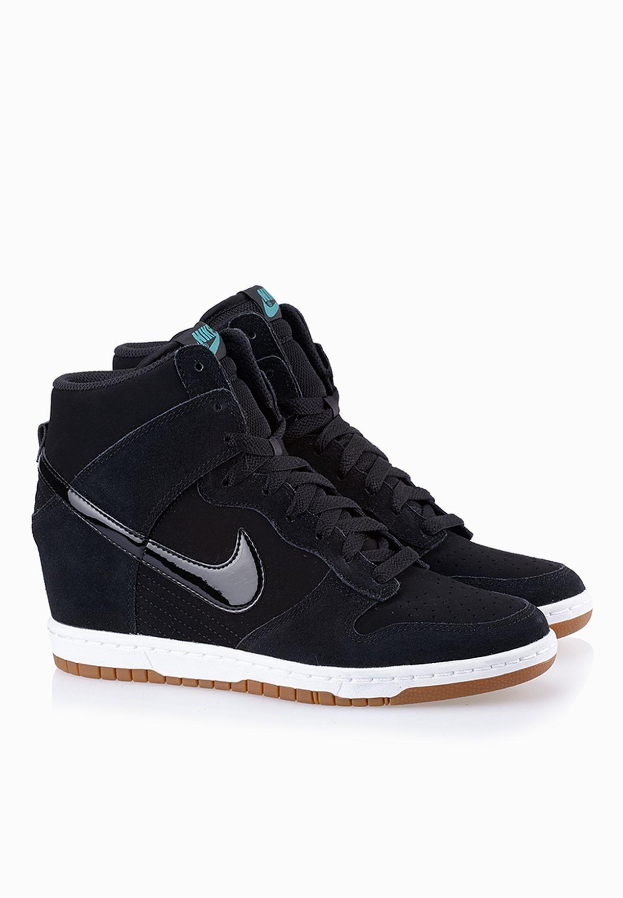 e231021b621 Shop Nike black Dunk Sky Hi Essential Sneakers 644877-011 for Women ...