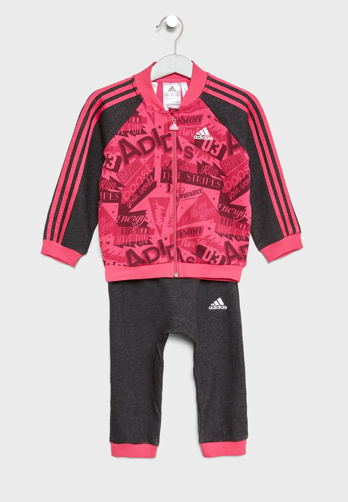 d75c51838 Shop adidas multicolor Infant 3 Stripe AOP Jogger Set DJ1558 for ...