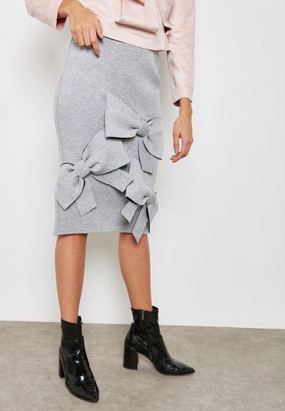 High Waist Bow Skirt