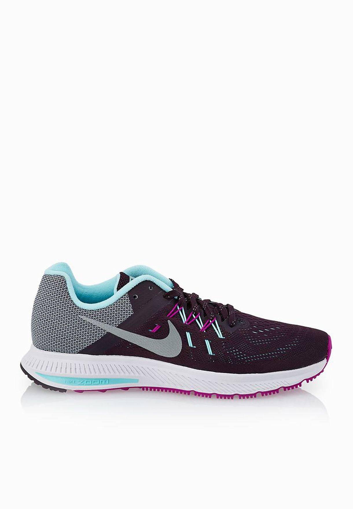 6d203580d9d2b Shop Nike purple Zoom Winflo 2 Flash 807280-500 for Women in Bahrain -  NI727SH09EKS