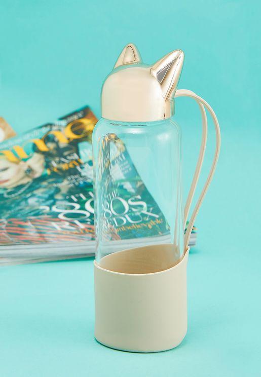 Cat Ear Glass Travel Bottle