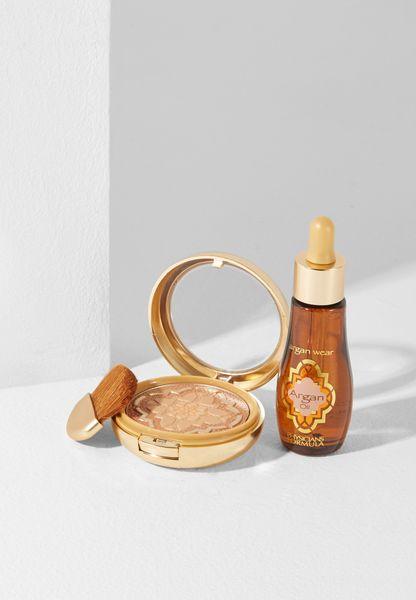 Argan Oil Bronzer + Argan Oil Makeup Kit