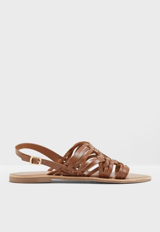 Plait Multi Strap Sandals