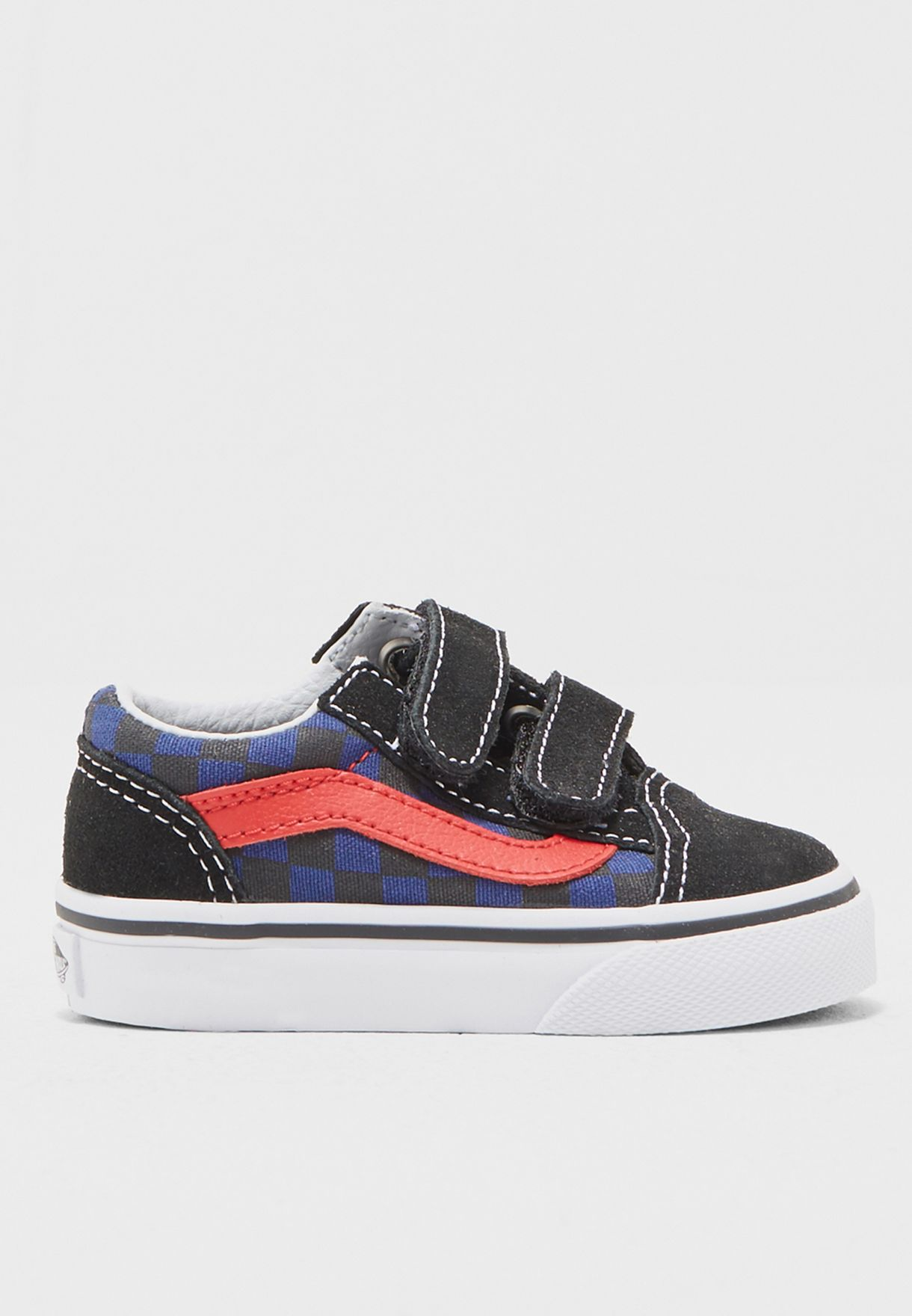 edd70ce8b0 Shop Vans checks Old Skool V Sneakers Infant 44KODI for Kids in UAE ...