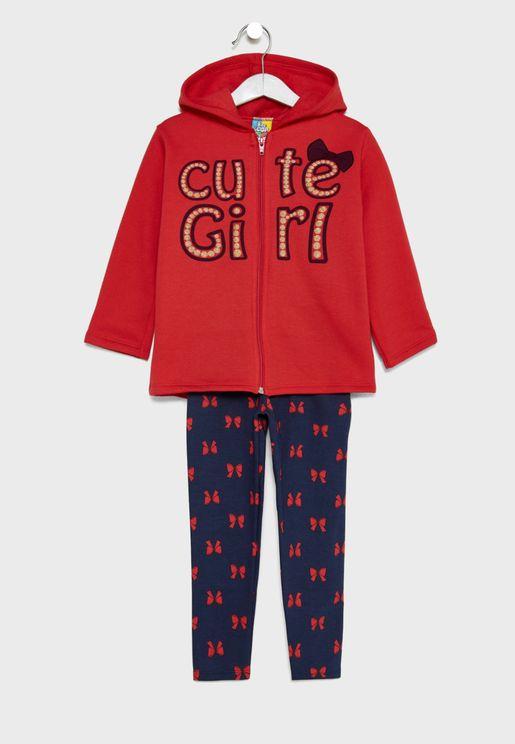 Little Hooded Jacket + Pants Set
