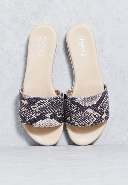 Textured Strap Crystal Sole Sandal