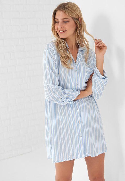 Striped Sleep Shirt
