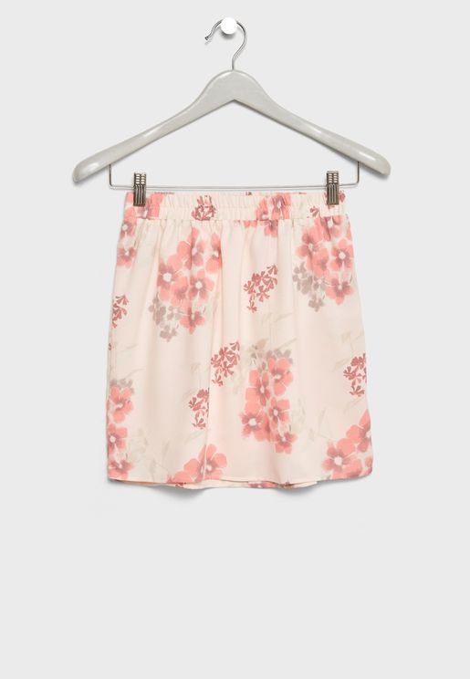 Teen Floral Printed Skirt