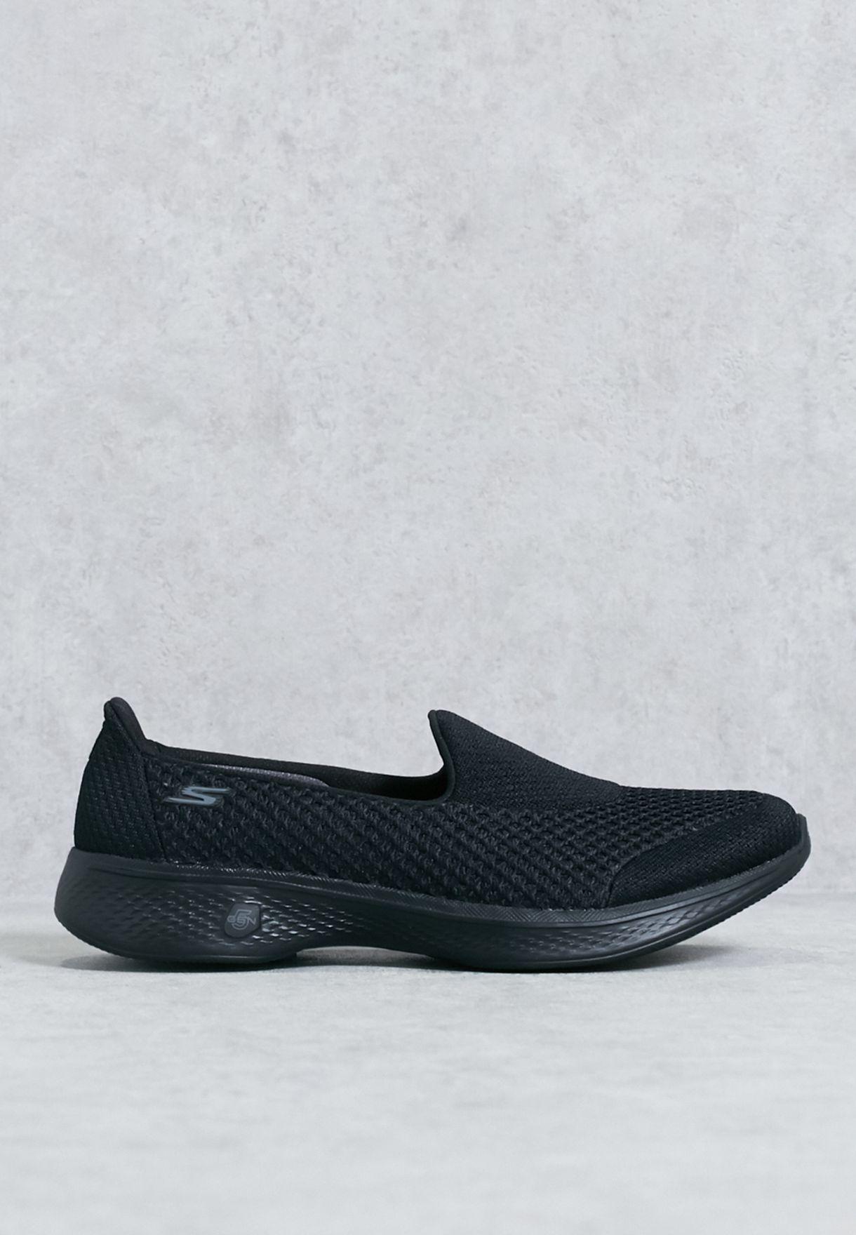 8d09d2a29564 Shop Skechers black Go Walk 4 Kindle Comfort Shoes 14145-BBK for ...