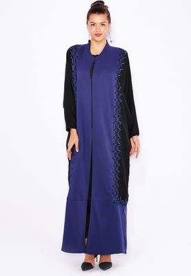 Haya's Closet Embroidered Side Abaya