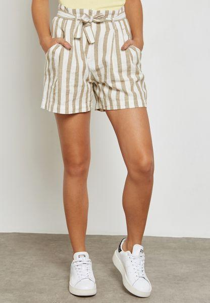 Striped Tie Shorts