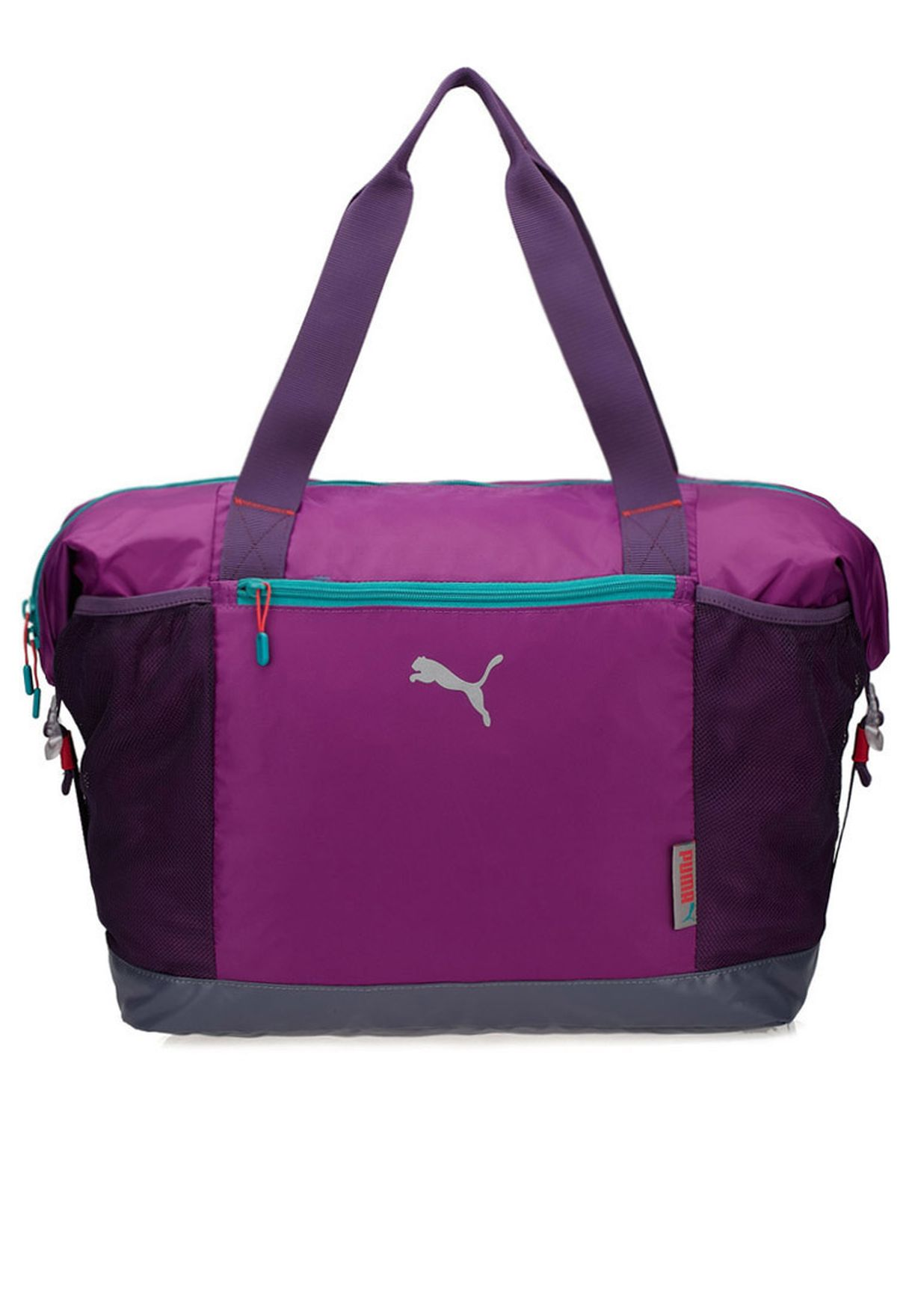 4fe563e01fd3a9 Shop PUMA purple Logo Workout Bag 7153303 for Women in UAE ...