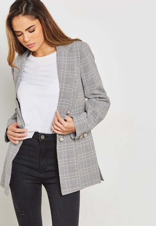 Button Detail Blazer