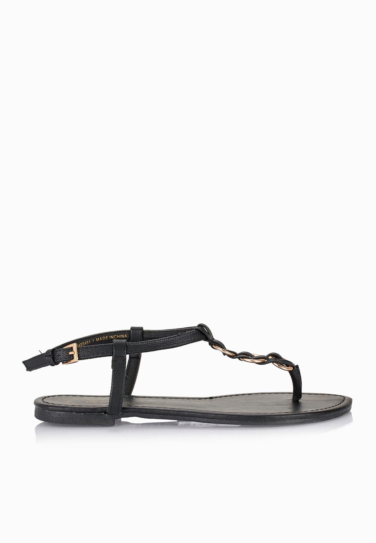 cee2e03d83e Shop New Look black Hooping Thong Sandals for Women in Kuwait - NE767SH09HPI