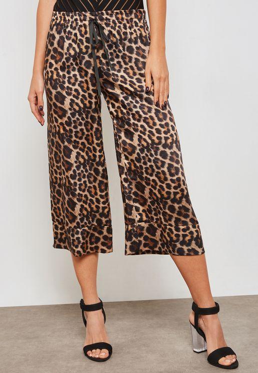 Leopard Print Culottes