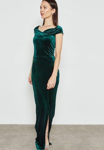 Bardot Velvet Maxi Dress